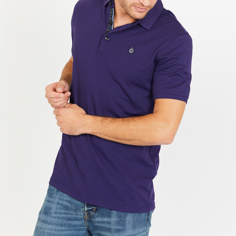 Quentin Slim Fit Polo Shirt // Navy (S)