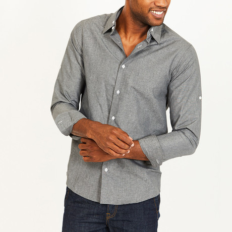 Aiden Button-Up Shirt // Gray (S)
