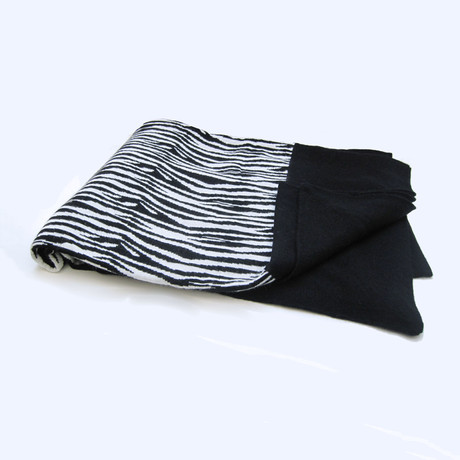 Cashmere Blend Throw // Zebra