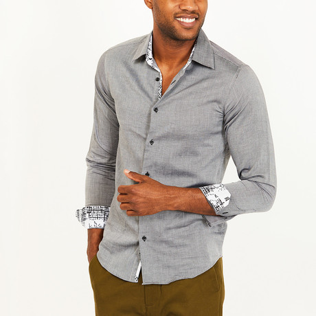 Liam Button-Up Shirt // Gray (S)