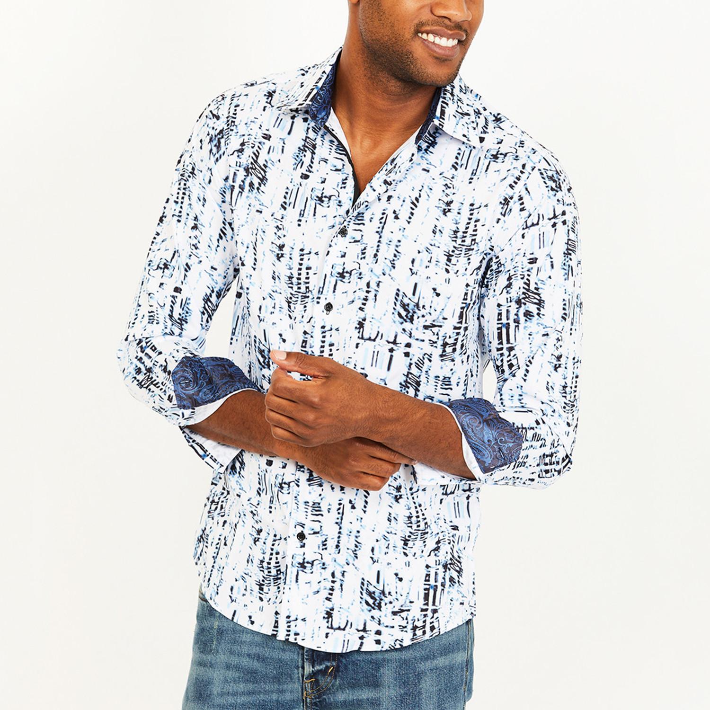 9db8e205e0 Harold Button-Up Shirt    White + Blue (2XL) - St. Lynn - Touch of ...