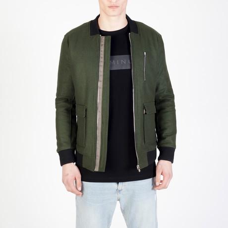Green Bomber // Olive (S)