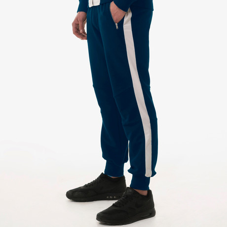Stripe Tracksuit Bottoms // Blue (S)