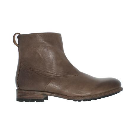 Back-Zip Boot // Truffle