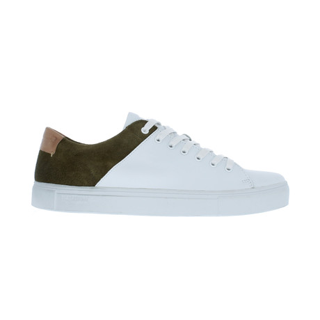 Two-Tone Sneaker // White + Olive