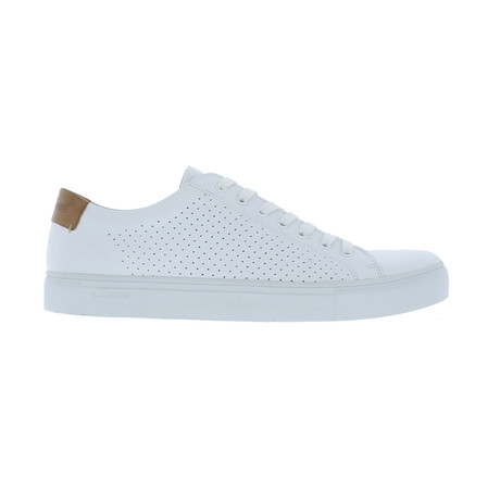 Perforated Low-Top Sneaker // White