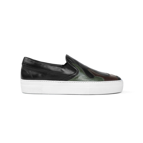 Mercury Camo Sneakers // Black + Green (US: 7)