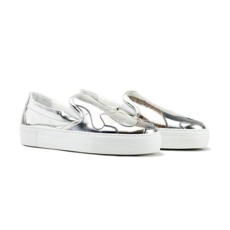 Mercury Camo Sneakers // Gunmetal + Bronze + Silver (US: 7)