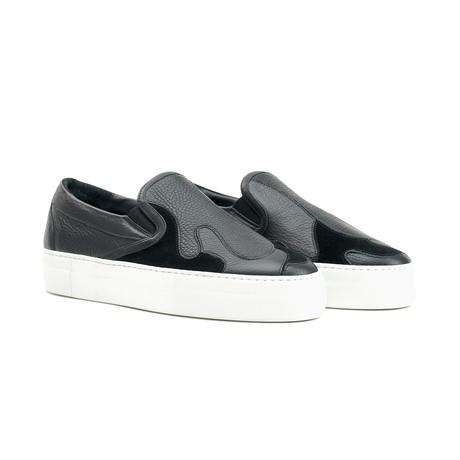 Mercury Camo Sneakers // Black