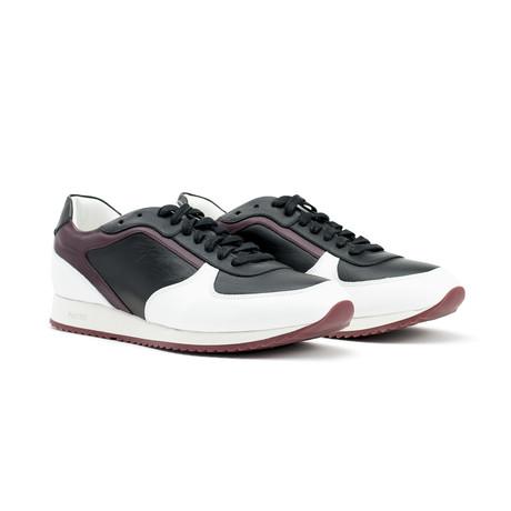 Plutus Sneakers // White + Black + Bordeux (US: 7)