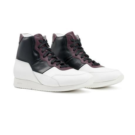 Minerva Sneakers // White+ Black + Bordeaux (US: 7)