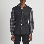 Long Sleeved Check Shirt // Black (S)