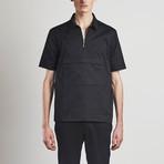 Zip T-Shirt // Black (S)