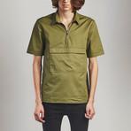 Zip T-Shirt // Olive (XL)