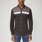 Long Sleeved Stripe Shirt // Black (XL)