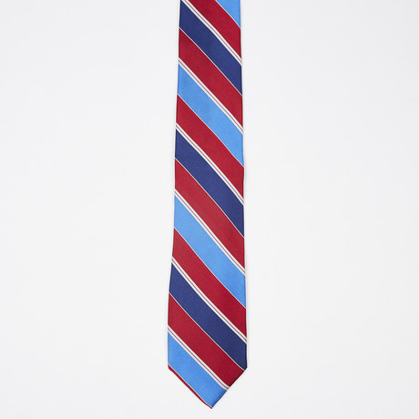 Bold Stripe Tie // Blue