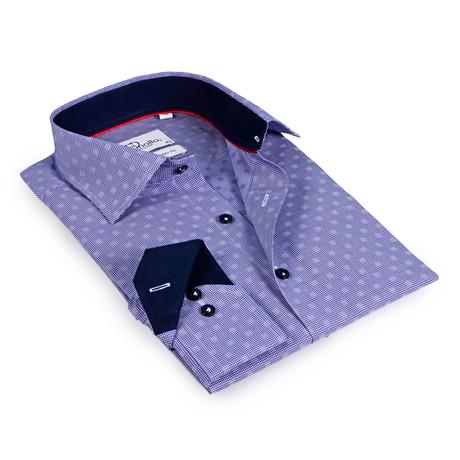 Macron Button-Up Shirt // Navy Check + Navy (US: 15R)