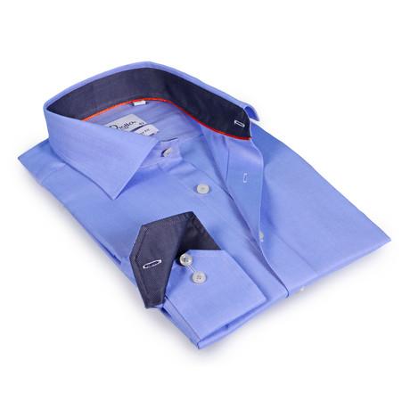 Gaskin Button-Up Shirt // Light Blue + Charcoal (US: 15R)