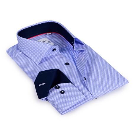 Hazel Button-Up Shirt // Blue + Navy (US: 15R)