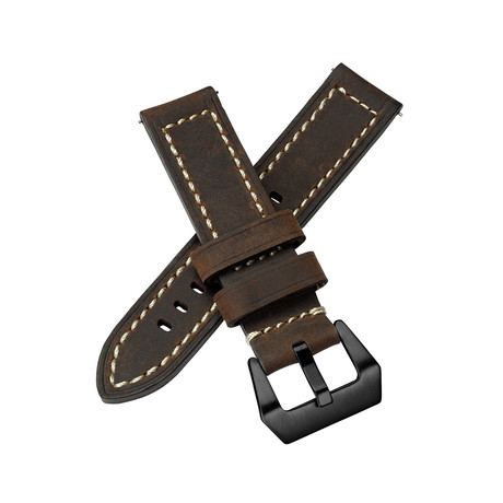 Aeromeister Watch Strap // Dark Brown Leather // S12