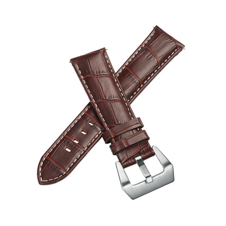 Aeromeister Strap // Dark Brown Croco // S15