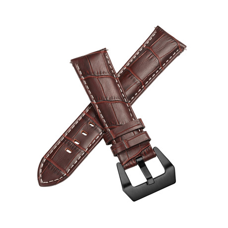 Aeromeister Strap // Dark Brown Croco // S16