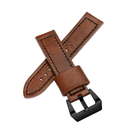 Aeromeister Watch Strap // Vintage Brown Oiled Leather // S27