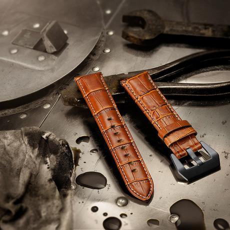 Aeromeister Strap // Cognac Croco Leather // S02