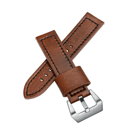 Aeromeister Watch Strap // Vintage Brown Oiled Leather // S26