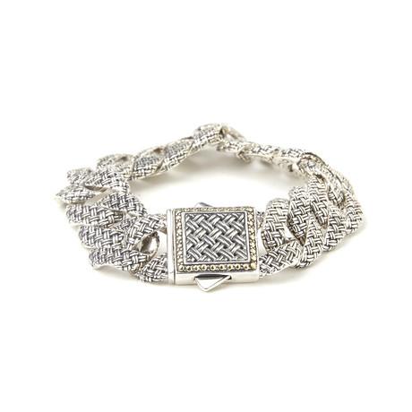 Sterling Silver + 18K Gold Link Bracelet