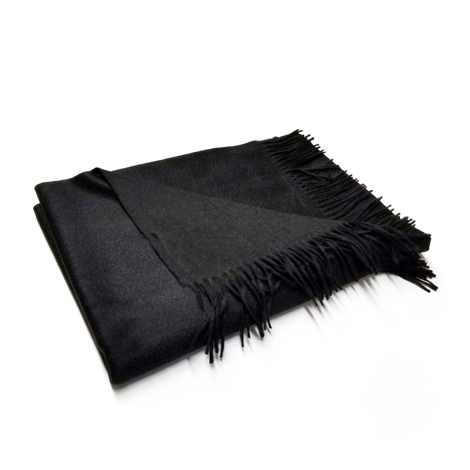 Image of: Woven Cashmere Throw Fringes White Portolano Products Touch Of Modern