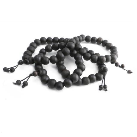 Wood Prayer Bead Bracelet // Set of 4