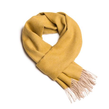 Scarf Exclusive Fishbone // Golden Green + Beige