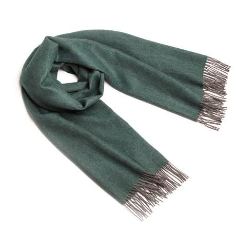 Shawl Exclusive Fishbone // Deep Green + Gray