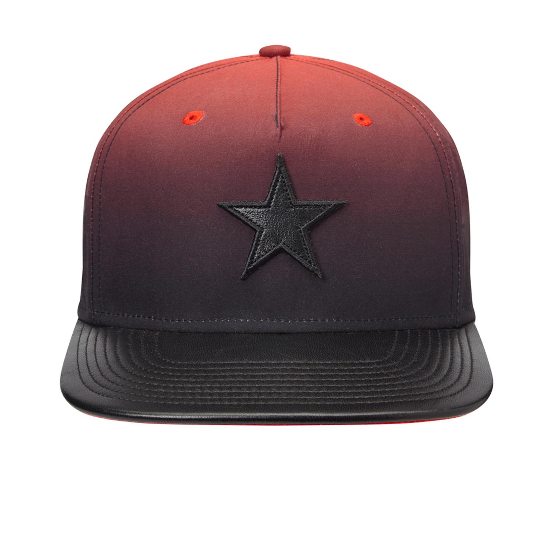 fbfbc1e8b33 Faded Flat Brim Snapback Baseball Cap    Black + Red - Gents - Touch ...