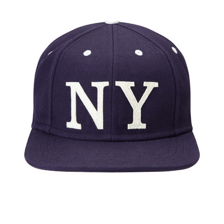 Ace NY Baseball Cap // Blue + White