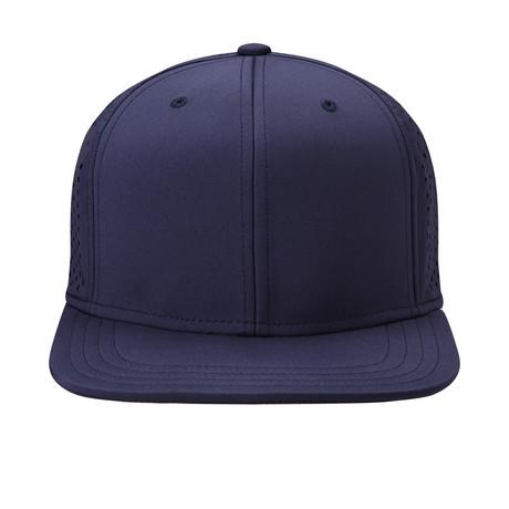 eef6e13e Cliff Flat Brim Velcro Baseball Cap // Navy
