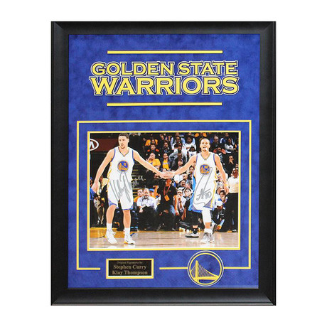 Framed + Signed Photo // Steph Curry + Klay Thompson