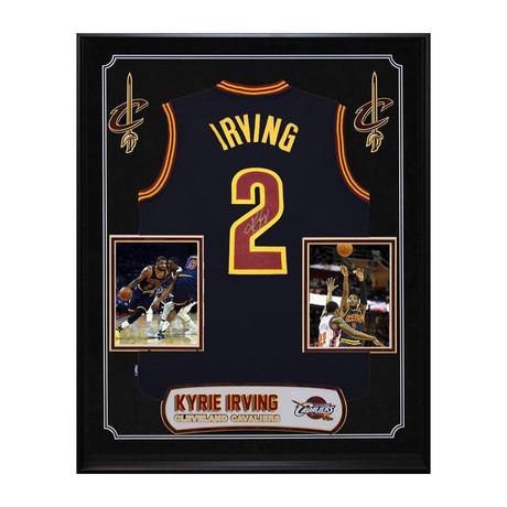 Framed + Signed NBA Jersey // Kyrie Irving