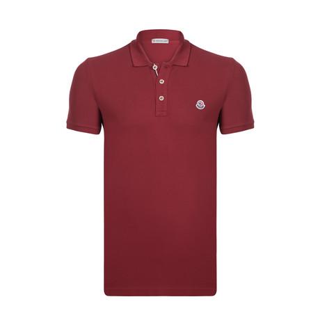 Short Sleeve Solid Polo // Bordeaux