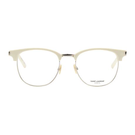 Saint Laurent // Round Frame // Shiny Ivory