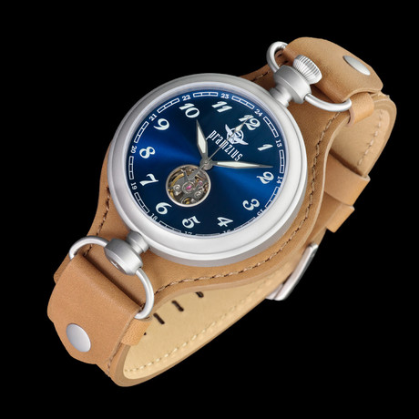 Pramzius Trans-Siberian Automatic + Extra Strap // Blue (Mineral Crystal)
