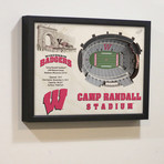 Wisconsin Badgers Wall Art (25 Layer)