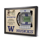 Washington Huskies // Husky Stadium // 25 Layer Wall Art