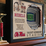 Mississippi Rebels // 5 Layer Wall Art
