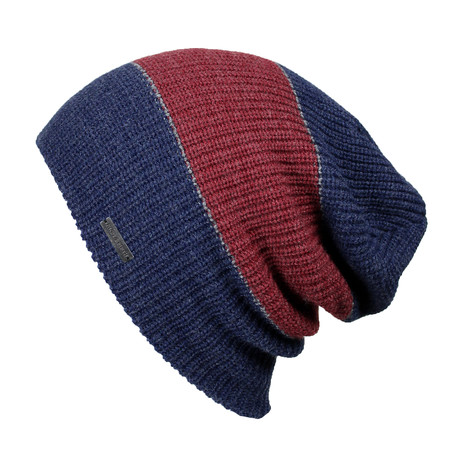 The Forte Slouchy Beanie // Red + Blue