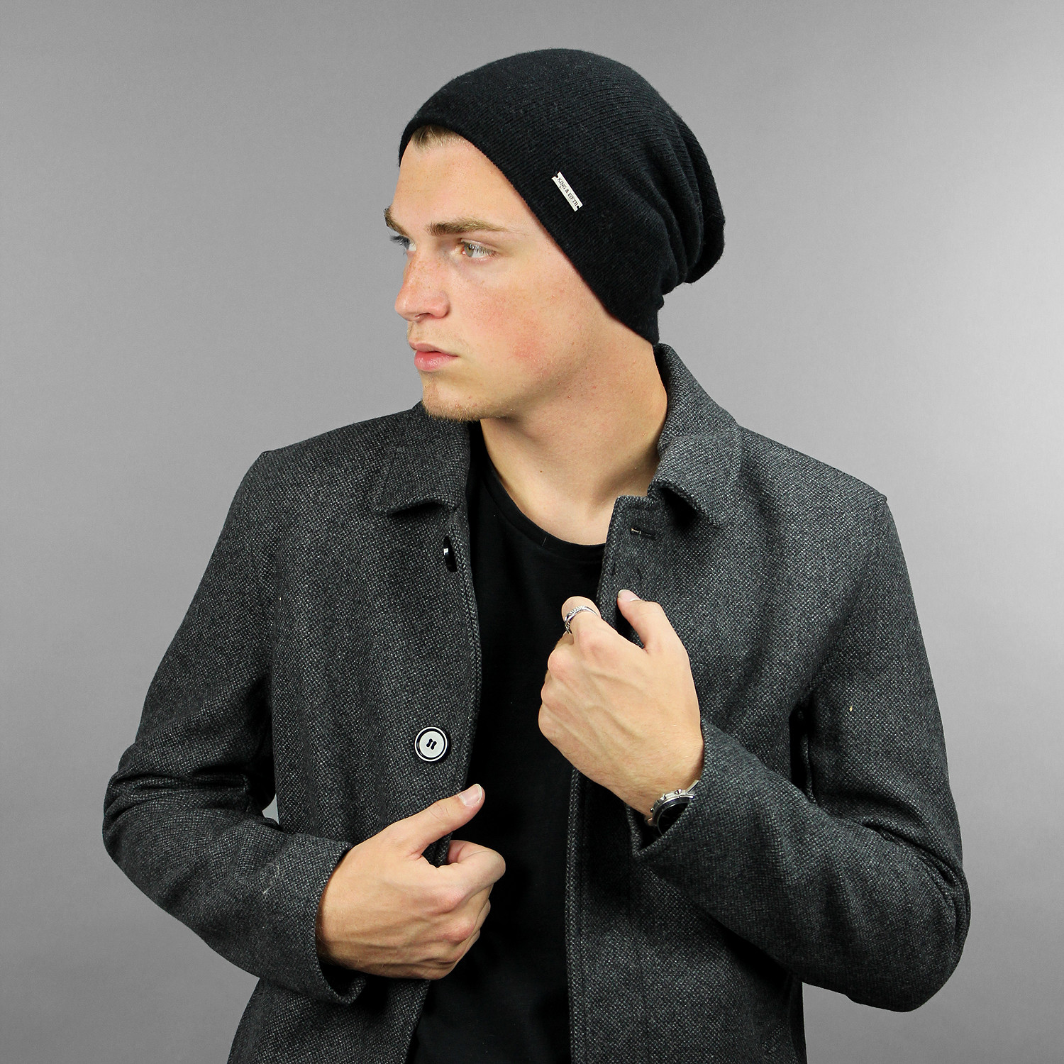 a6e1e229f The Murphy Cashmere Beanie // Black - King & Fifth - Touch of Modern