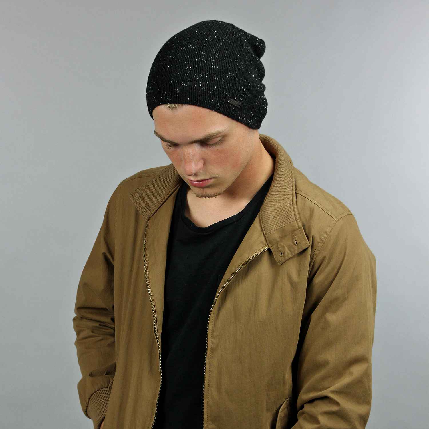 31d322674 The Hadley Slouchy Beanie // Black + Nep - King & Fifth - Touch of ...