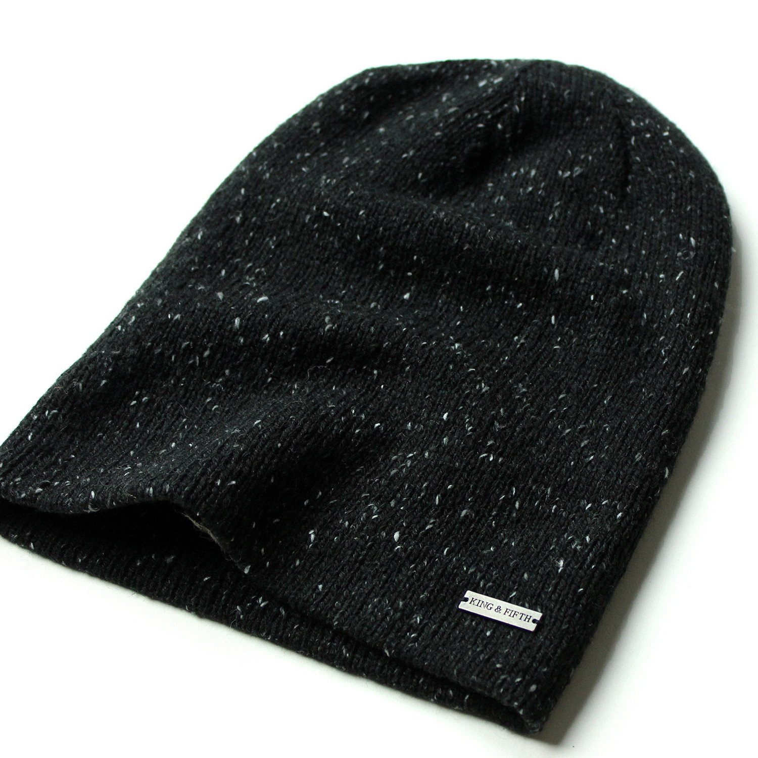 376d7e3dcd534 The Hadley Slouchy Beanie    Black + Nep - King   Fifth - Touch of ...
