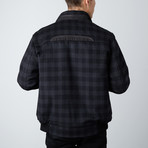 Paolo Lercara // Wool + Cashmere Blend RGB Bomber Jacket // Charcoal (2XL)